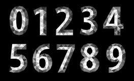Χαμηλό πολυ σύνολο poligon αριθμών Στοκ Εικόνες