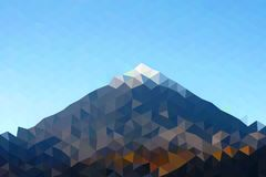 Χαμηλό πολυ τριγωνικό υπόβαθρο - βουνό στοκ εικόνα με δικαίωμα ελεύθερης χρήσης