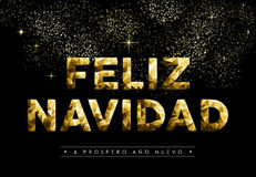 Χαμηλό πολυ χρυσό ισπανικό navidad έτους Χριστουγέννων νέο Στοκ φωτογραφίες με δικαίωμα ελεύθερης χρήσης
