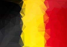 Χαμηλό πολυ ύφος σημαιών του Βελγίου Ο κίτρινος κόκκινος Μαύρος Στοκ Φωτογραφίες