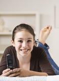 χαμογελώντας έφηβος κιν&et στοκ φωτογραφία