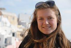 χαμογελώντας έφηβος πορ&t Στοκ Εικόνες