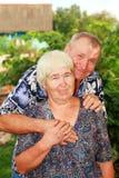 Χαμογελώντας ανώτερο ζεύγος Στοκ Φωτογραφίες