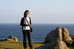 Χαμογελώντας ασιατική γυναίκα Στοκ εικόνα με δικαίωμα ελεύθερης χρήσης