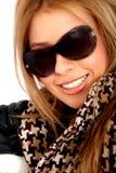 χαμογελώντας γυναίκα γ&upsi Στοκ φωτογραφία με δικαίωμα ελεύθερης χρήσης