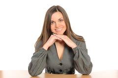 χαμογελώντας γυναίκα ε&pi Στοκ εικόνες με δικαίωμα ελεύθερης χρήσης