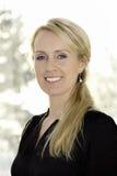 χαμογελώντας γυναίκα κ&iota Στοκ Φωτογραφία