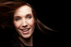 χαμογελώντας γυναίκα νύχ&t στοκ φωτογραφία με δικαίωμα ελεύθερης χρήσης