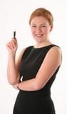 χαμογελώντας γυναίκα π&epsilon Στοκ εικόνες με δικαίωμα ελεύθερης χρήσης