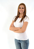 χαμογελώντας γυναίκα Στοκ φωτογραφία με δικαίωμα ελεύθερης χρήσης