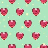 Χαμογελώντας ευτυχείς καρδιές Στοκ εικόνα με δικαίωμα ελεύθερης χρήσης