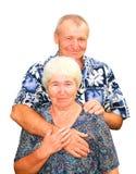 Χαμογελώντας ζεύγος που απομονώνεται Στοκ Εικόνες