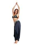 Χαμογελώντας κοιλιά-χορευτής Στοκ φωτογραφία με δικαίωμα ελεύθερης χρήσης