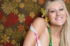 Χαμογελώντας κορίτσι Hippie Στοκ Φωτογραφία
