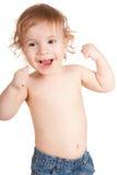 χαμογελώντας μικρό παιδί Στοκ φωτογραφίες με δικαίωμα ελεύθερης χρήσης