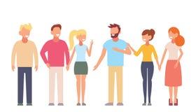 Χαμογελώντας νέοι αγκαλιάζοντας φίλοι Διανυσματική έννοια φιλίας Adolescentes Στοκ φωτογραφία με δικαίωμα ελεύθερης χρήσης