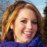 χαμογελώντας νεολαίες γυναικών Στοκ Φωτογραφίες