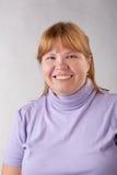 Χαμογελώντας παχιά γυναίκα Στοκ φωτογραφία με δικαίωμα ελεύθερης χρήσης