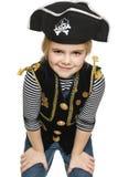 Χαμογελώντας πειρατής μικρών κοριτσιών Στοκ φωτογραφία με δικαίωμα ελεύθερης χρήσης
