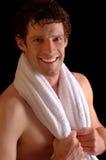 χαμογελώντας πετσέτα αθ&l Στοκ εικόνα με δικαίωμα ελεύθερης χρήσης