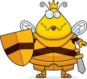 Χαμογελώντας τη μέλισσα κινούμενων σχεδίων βασίλισσα Armor διανυσματική απεικόνιση