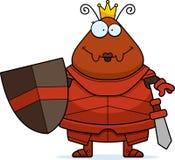 Χαμογελώντας το μυρμήγκι κινούμενων σχεδίων βασίλισσα Armor Στοκ εικόνες με δικαίωμα ελεύθερης χρήσης