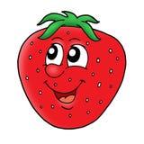 χαμογελώντας φράουλα διανυσματική απεικόνιση