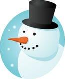 χαμογελώντας χιονάνθρωπ&om Στοκ φωτογραφία με δικαίωμα ελεύθερης χρήσης