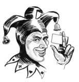 Χαμογελώντας jester στοκ εικόνα με δικαίωμα ελεύθερης χρήσης
