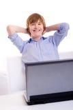 Χαμογελώντας redhead έφηβος Στοκ φωτογραφία με δικαίωμα ελεύθερης χρήσης