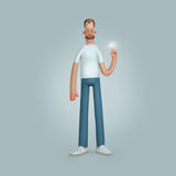 Χαμογελώντας άτομα που στέκονται τα άσπρα μπλε εσώρουχα πουκάμισων Στοκ εικόνες με δικαίωμα ελεύθερης χρήσης