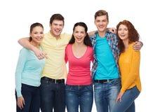 χαμογελώντας έφηβοι ομάδας Στοκ Εικόνες