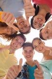 χαμογελώντας έφηβοι ομάδας Στοκ Εικόνα
