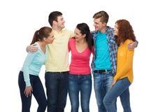 χαμογελώντας έφηβοι ομάδας Στοκ Φωτογραφία