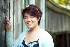 Χαμογελώντας έφηβος Brunette Στοκ εικόνες με δικαίωμα ελεύθερης χρήσης