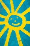 Χαμογελώντας ήλιος προσώπου Στοκ Εικόνες