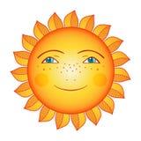 Χαμογελώντας ήλιος Στοκ Φωτογραφία