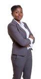 Χαμογελώντας αφρικανική επιχειρηματίας Στοκ φωτογραφίες με δικαίωμα ελεύθερης χρήσης