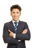 Χαμογελώντας Διευθυντής επιχείρησης μετωπικός στοκ εικόνες