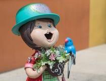 Χαμογελώντας ευπρόσδεκτη κούκλα κοριτσιών Στοκ Εικόνα