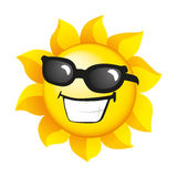 χαμογελώντας ηλιοφάνει&a Στοκ Εικόνα