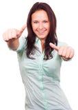 Χαμογελώντας θετικό κορίτσι Στοκ εικόνα με δικαίωμα ελεύθερης χρήσης