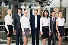 Χαμογελώντας και βέβαια επιχειρησιακή ομάδα Στοκ εικόνες με δικαίωμα ελεύθερης χρήσης