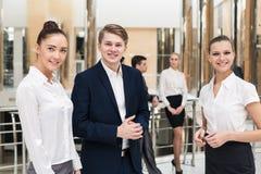 Χαμογελώντας και βέβαια επιχειρησιακή ομάδα Στοκ Φωτογραφία