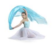 Χαμογελώντας κορίτσι που χορεύει το μπαλέτο Στοκ εικόνες με δικαίωμα ελεύθερης χρήσης