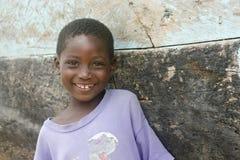 Χαμογελώντας κορίτσι στη Γκάνα Στοκ εικόνα με δικαίωμα ελεύθερης χρήσης