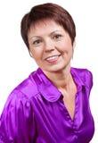 Χαμογελώντας μέση ηλικίας γυναίκα Στοκ Εικόνες