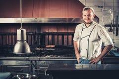 Χαμογελώντας νέος αρχιμάγειρας Στοκ Εικόνες