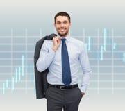 Χαμογελώντας νέος και όμορφος επιχειρηματίας Στοκ Εικόνα