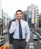 Χαμογελώντας νέος και όμορφος επιχειρηματίας Στοκ φωτογραφία με δικαίωμα ελεύθερης χρήσης